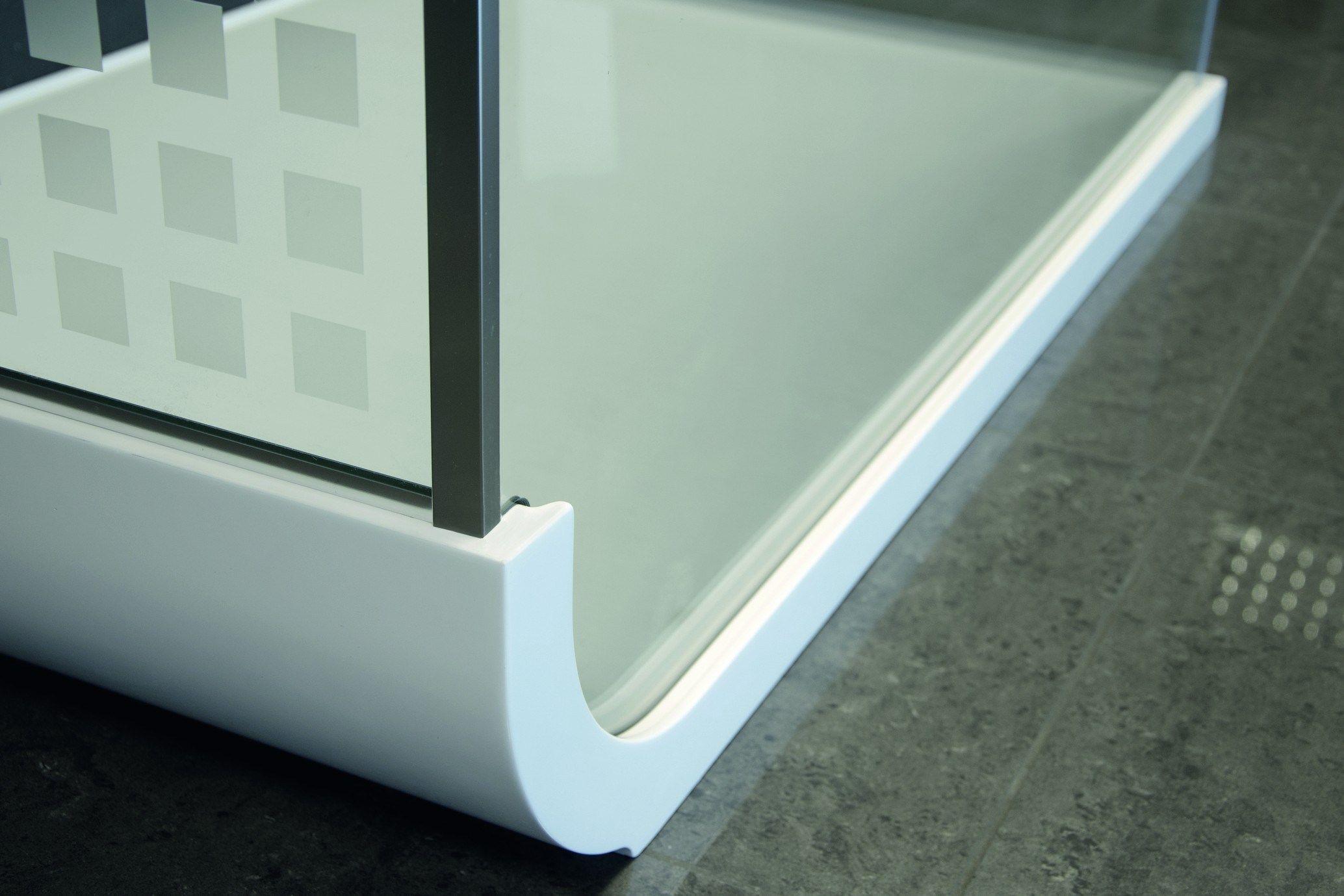 Box doccia centro stanza in cristallo con piatto curve f1 - Box doccia relax ...