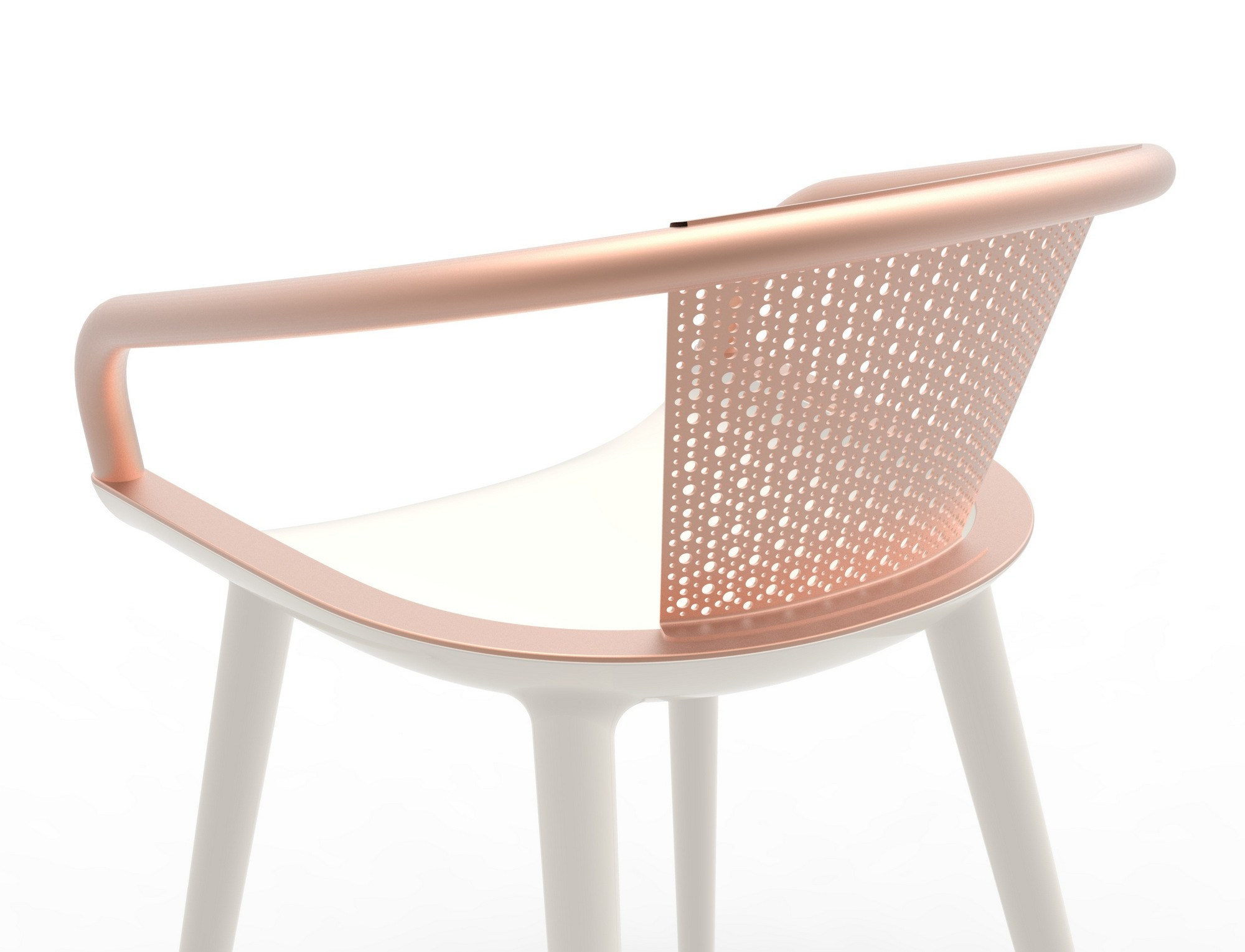 Chair with armrests cyborg daisy by magis design marcel for Magis design