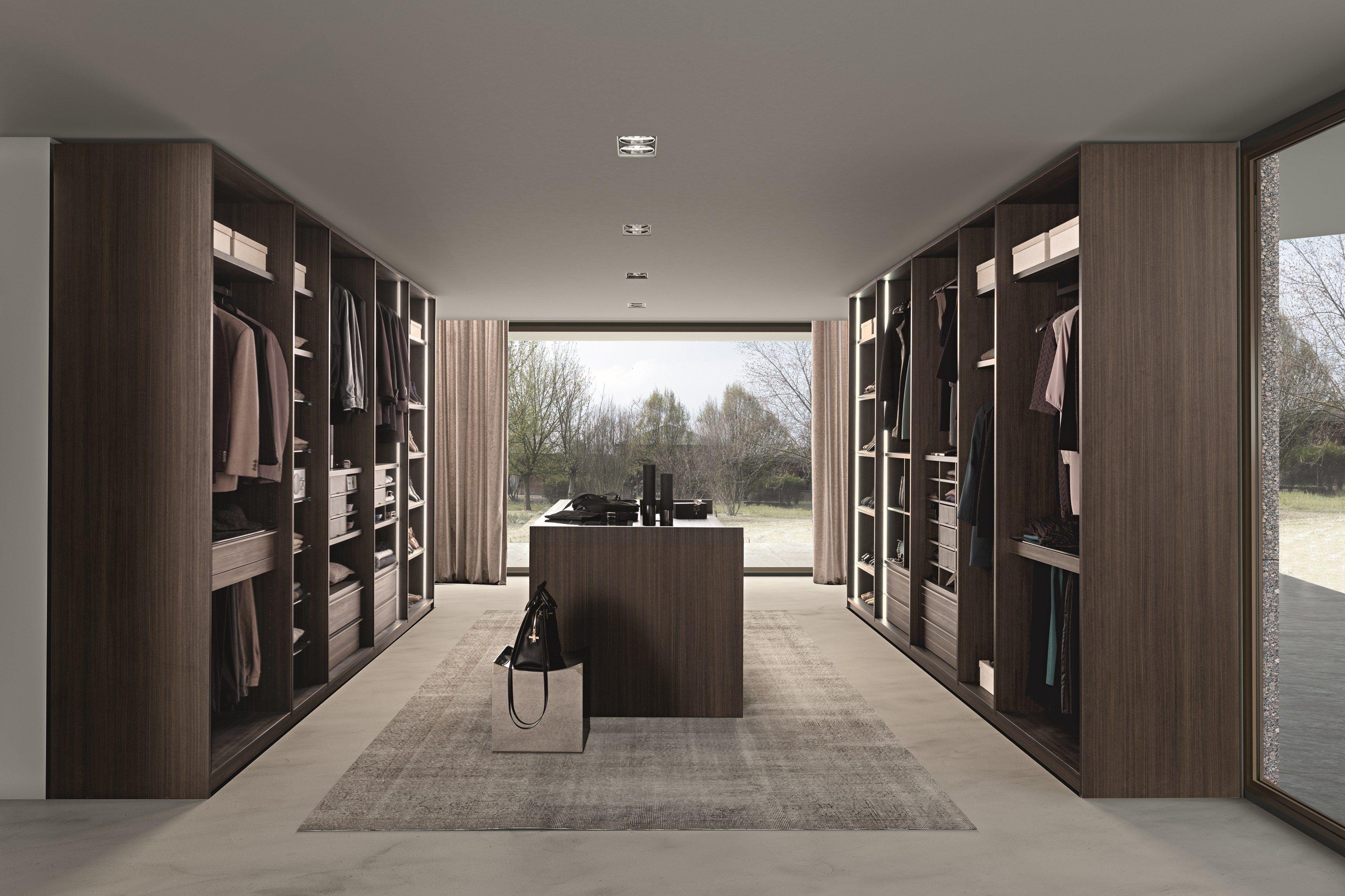 Dressing composable en bois de style contemporain cabina armadio tecnopolis free by presotto - Mobili cabina armadio ...