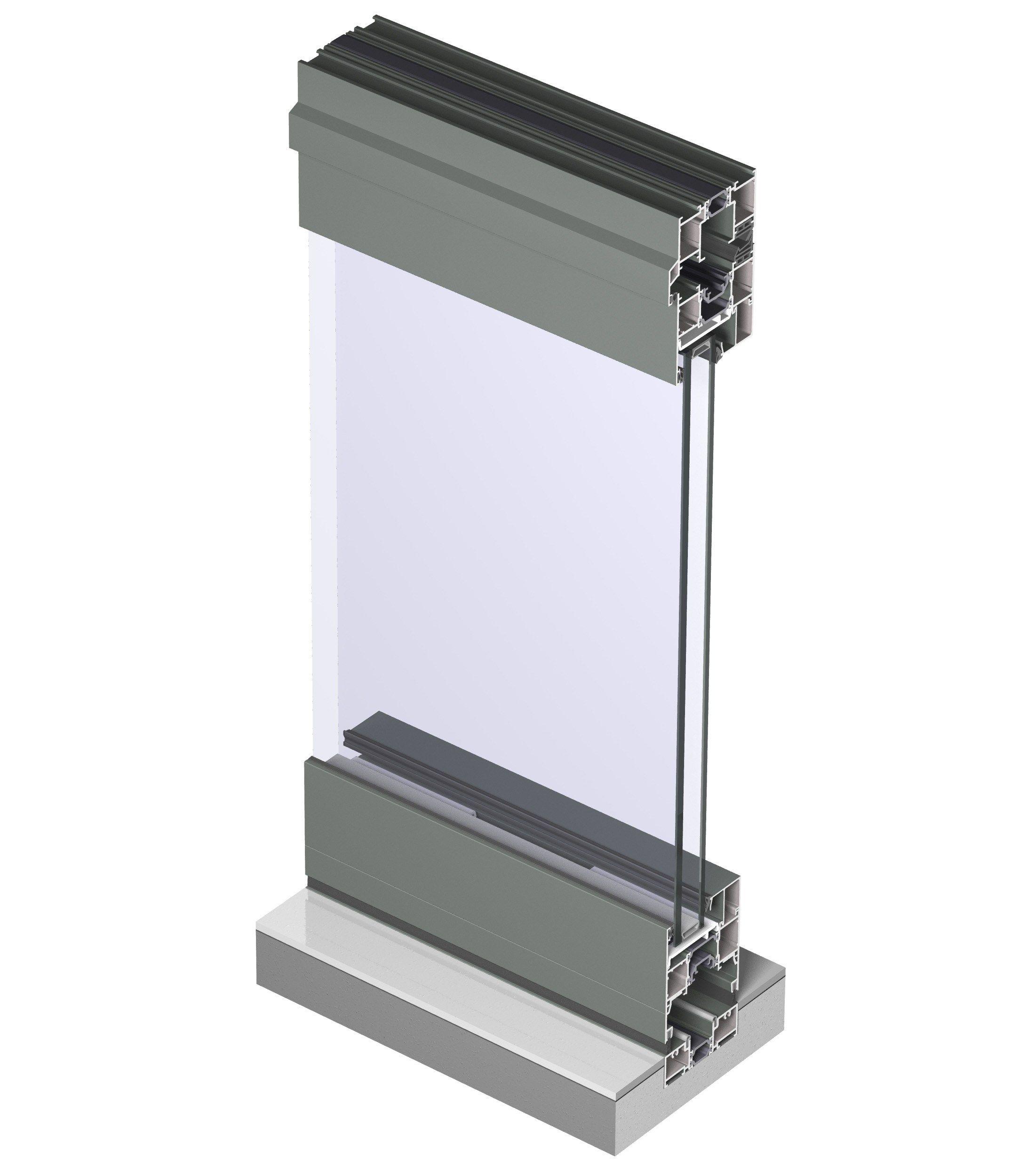 Fen tre pliante en aluminium avec double vitrage concept for Fenetre double vitrage alu