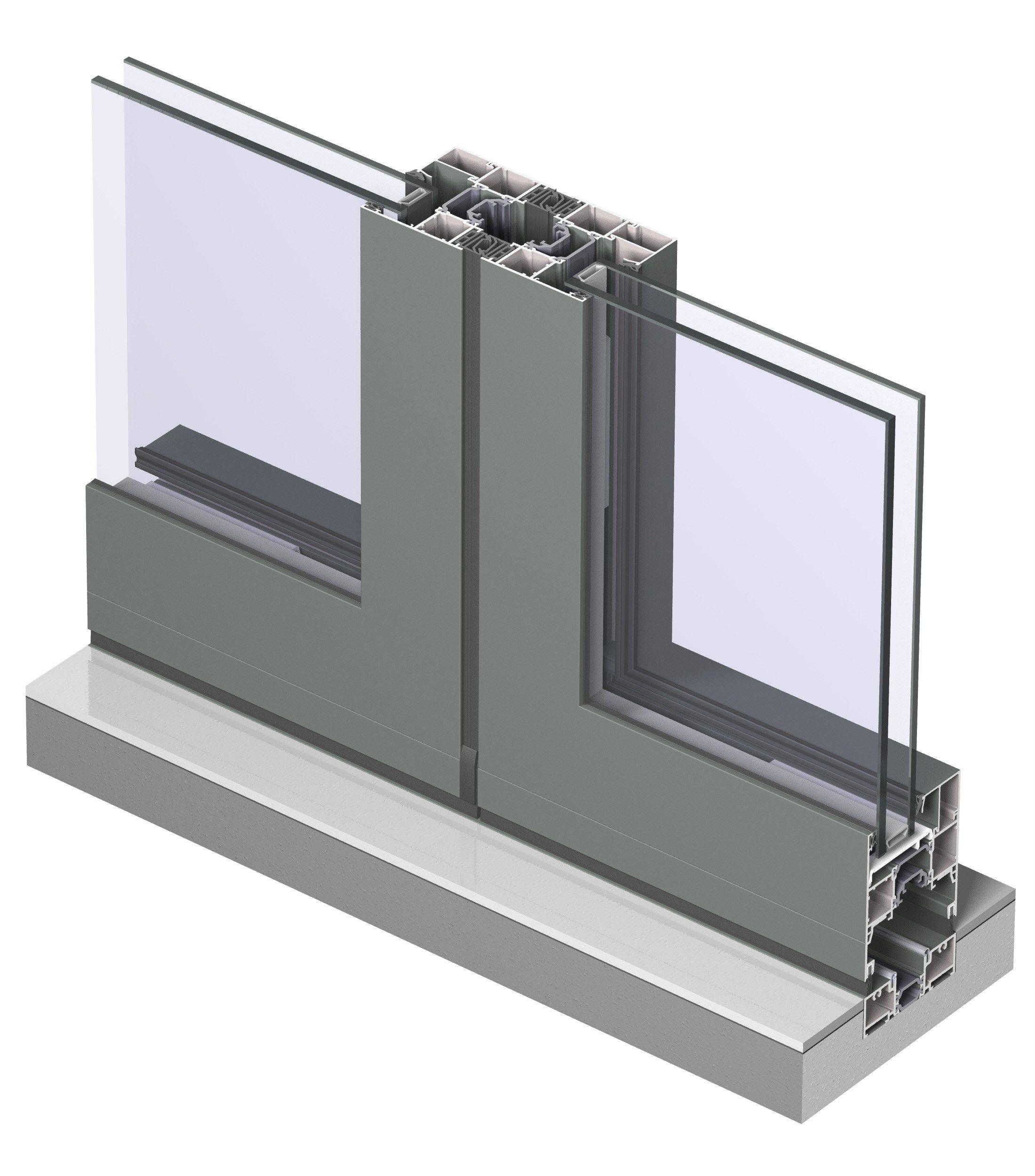 Fen tre pliante en aluminium avec double vitrage concept for Fenetre double vitrage avec aeration