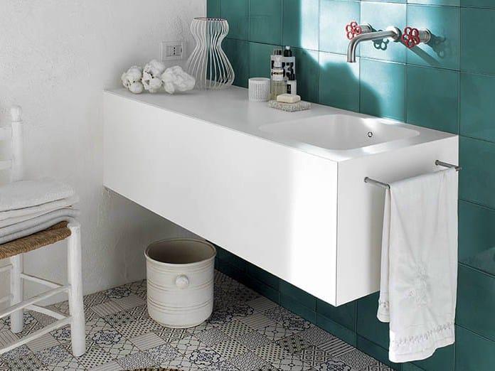Corian washbasin with integrated countertop corian - Corian de dupont ...