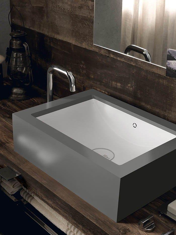 Countertop rectangular corian washbasin corian refresh - Corian de dupont ...