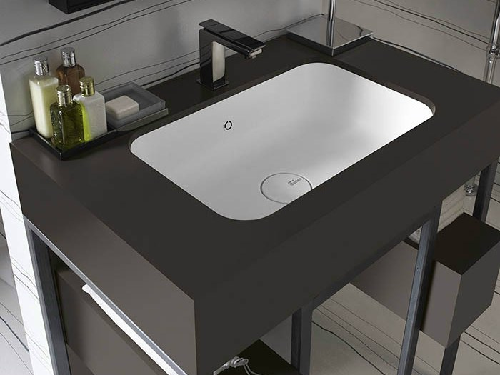 undermount corian washbasin corian serenity by dupont de. Black Bedroom Furniture Sets. Home Design Ideas
