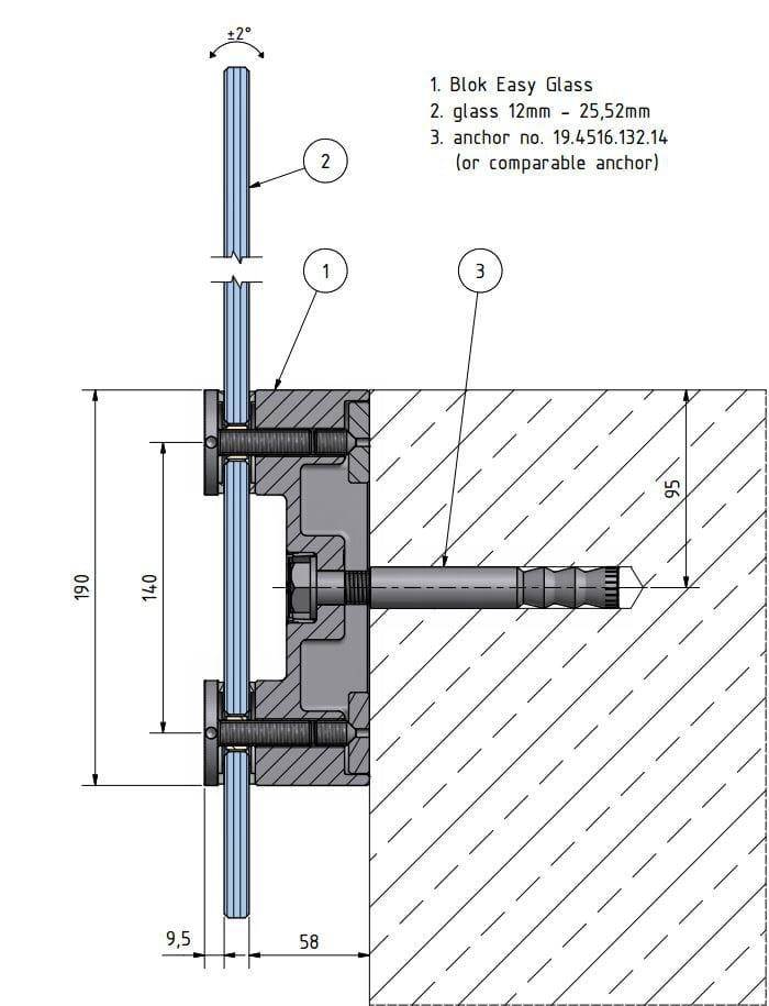 led window railing d line blok easy glass by q railing italia. Black Bedroom Furniture Sets. Home Design Ideas