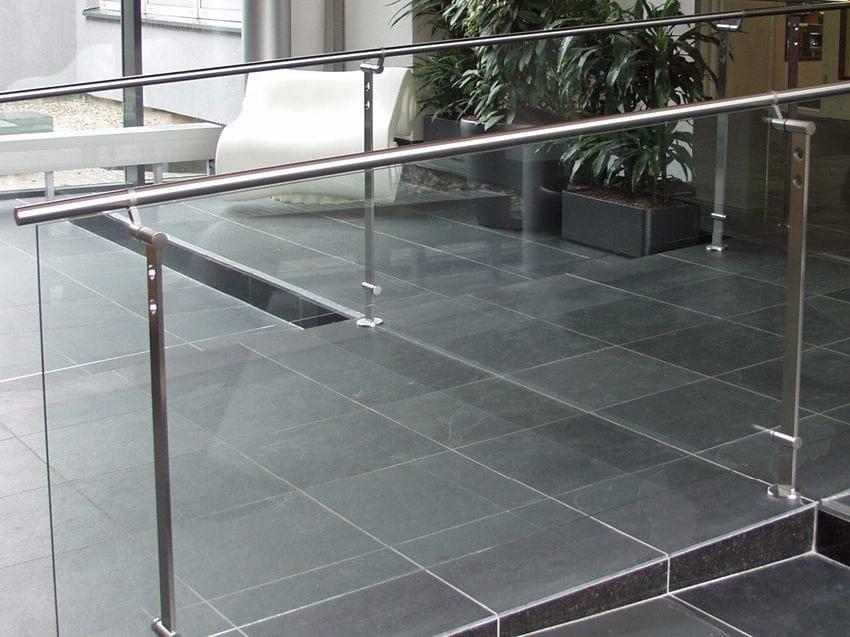 glass and stainless steel balustrade d line spigot fixing. Black Bedroom Furniture Sets. Home Design Ideas