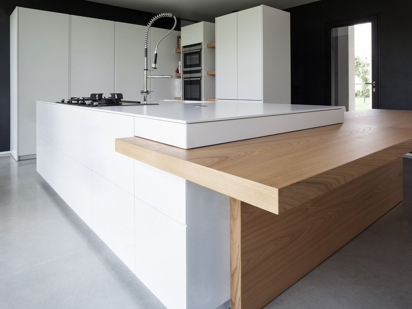 d90 kitchen without handles by tm italia cucine