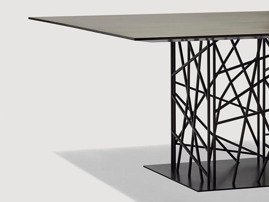Deframe tavolo quadrato by da a design luca casini - Tavolo da pranzo quadrato ...