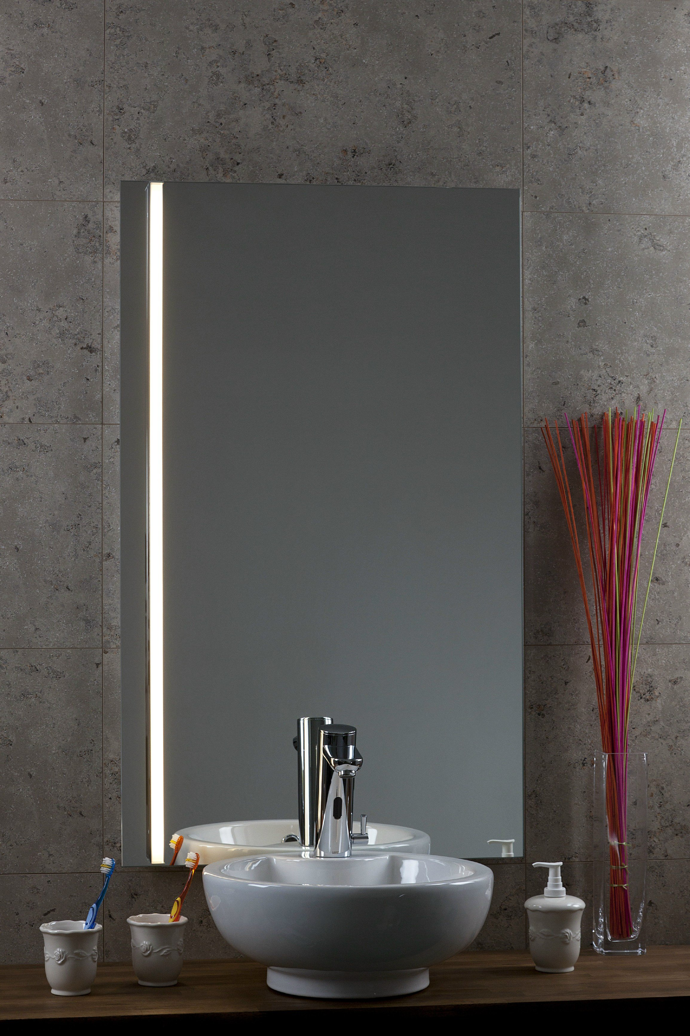 miroir avec clairage int gr desire by glassolutions