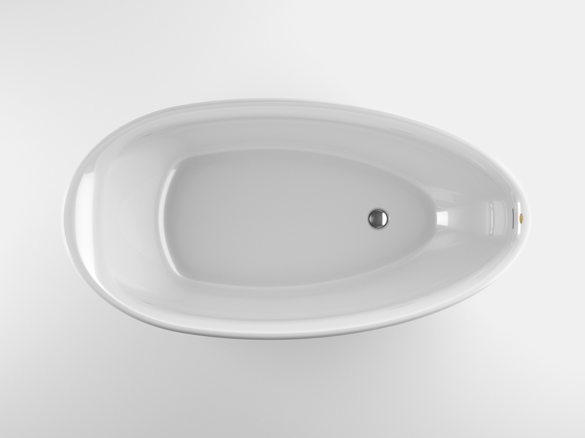 Freestanding oval acrylic bathtub desire by jacuzzi europe for European bathtub