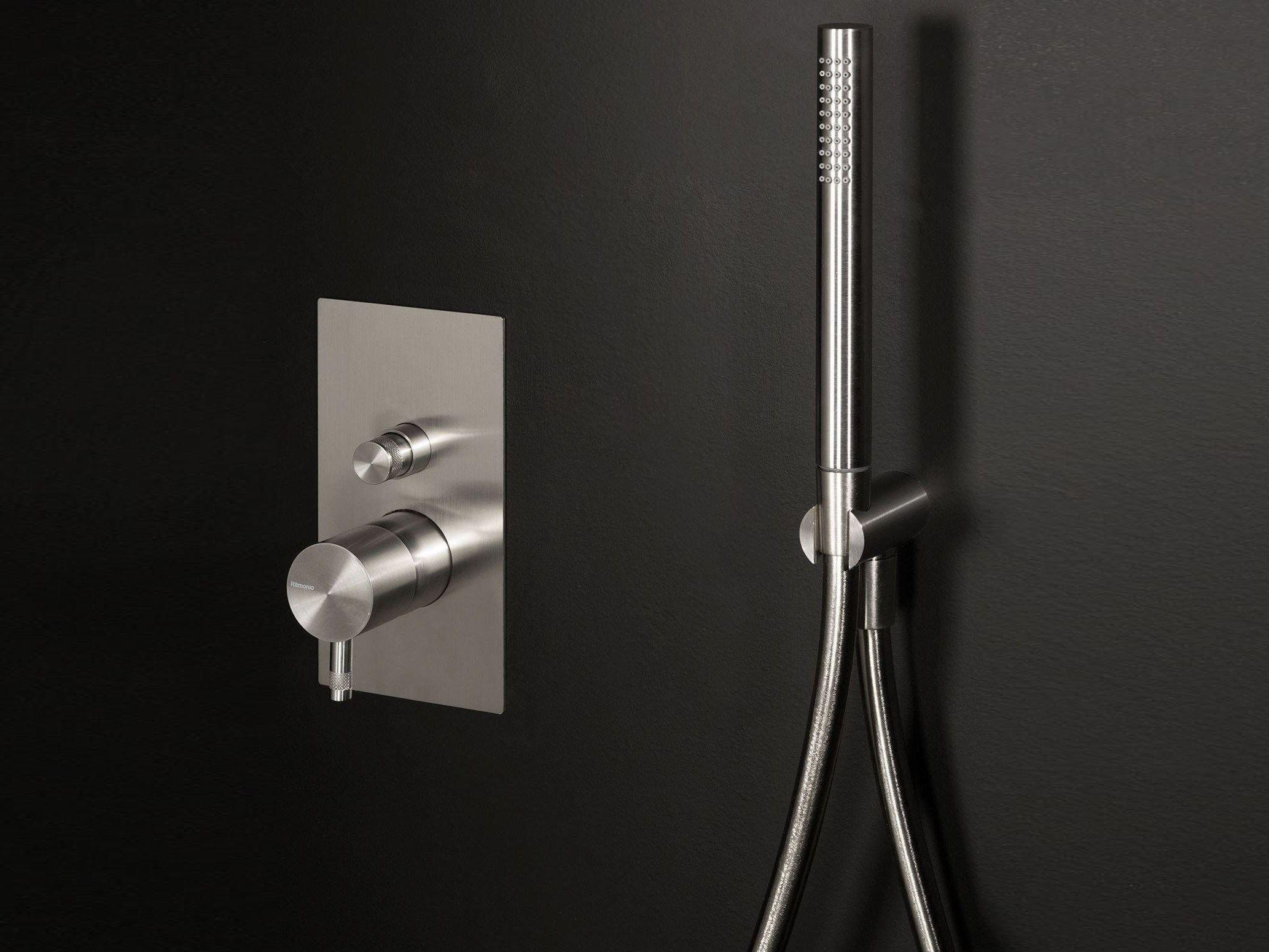 Diametro35 Inox Shower Mixer With Diverter By Rubinetterie