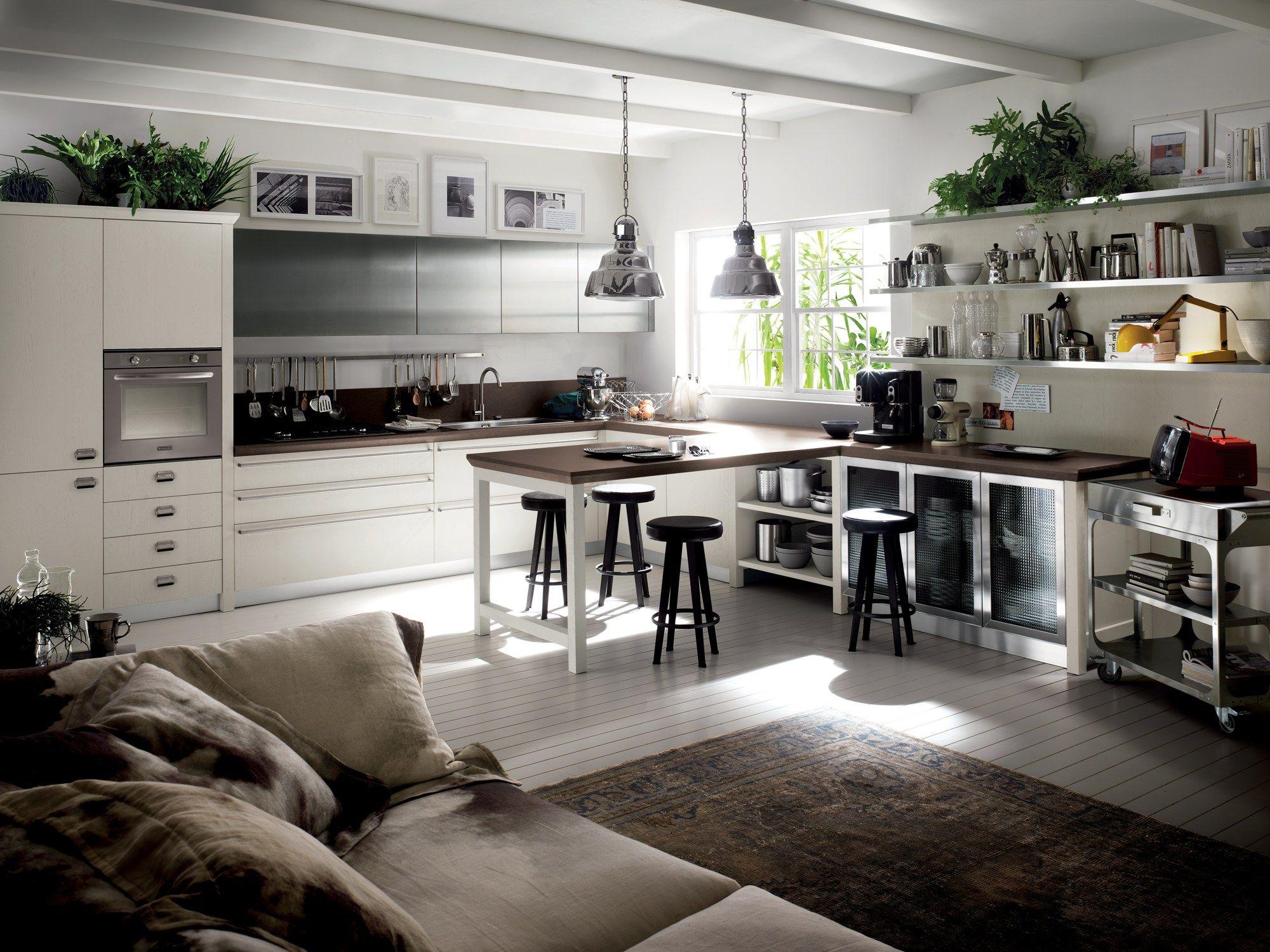 Cucina componibile diesel social kitchen linea scavolini by scavolini design diesel living with for Cucina diesel scavolini