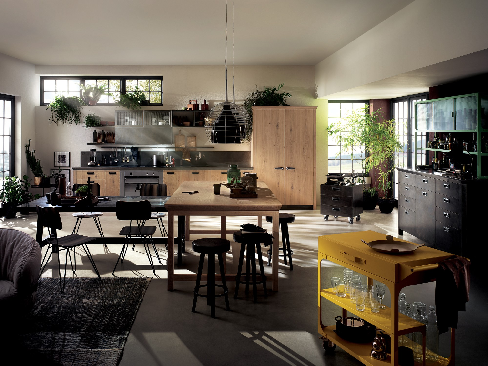 Cucina componibile diesel social kitchen linea scavolini by scavolini design diesel living with - Living e cucina ...