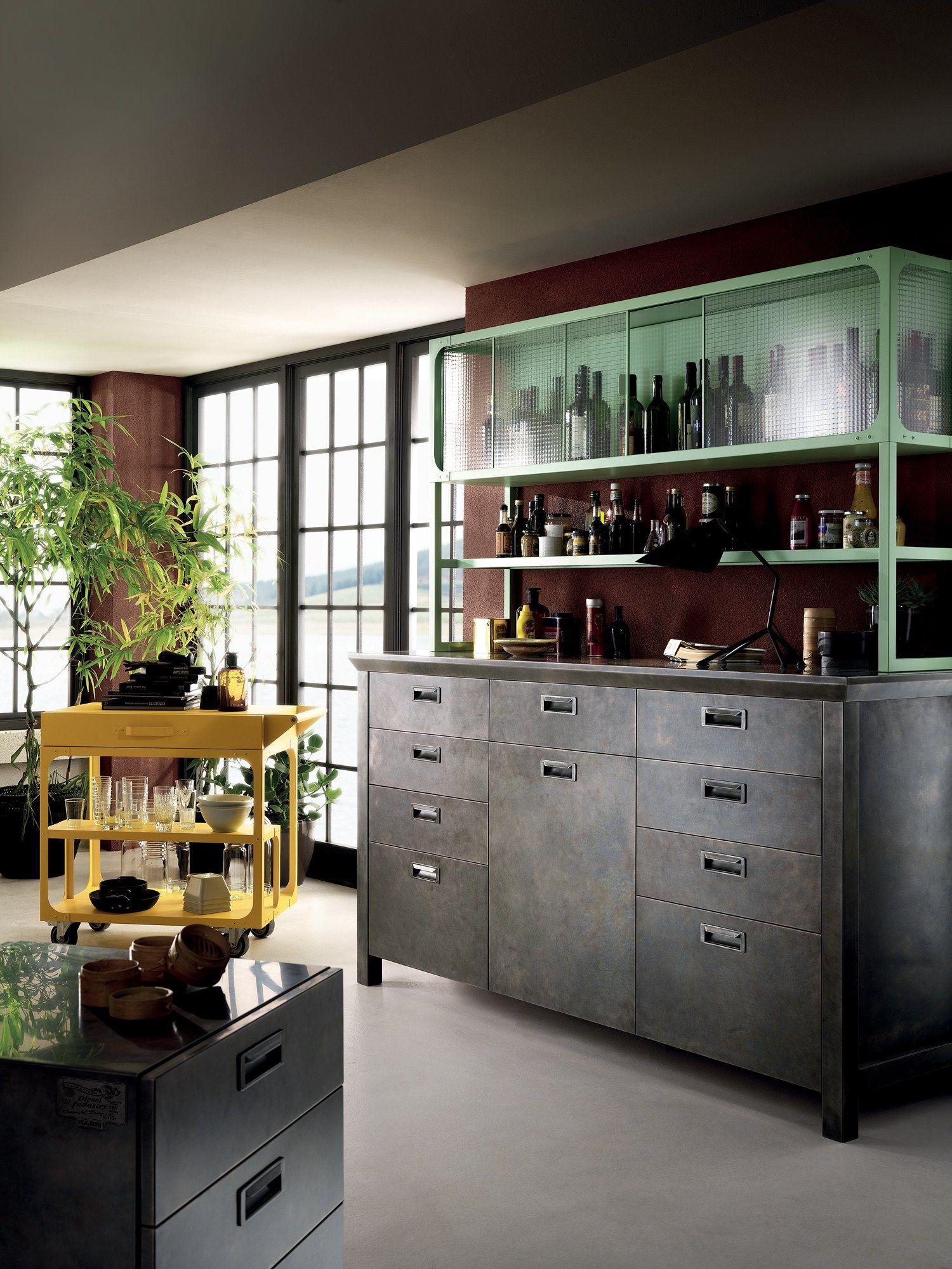 Cucina componibile diesel social kitchen linea scavolini for Cucina scavolini diesel