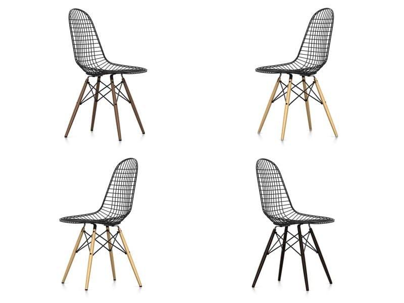Sedia in metallo dkw collezione wire chair by vitra design for Sedie design eames