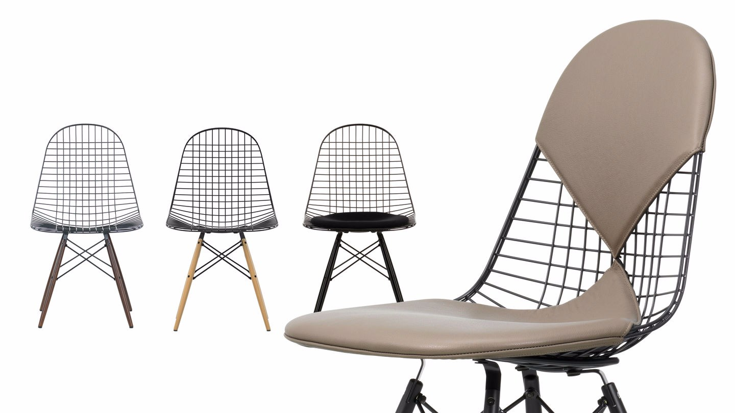 Sedia in metallo dkw collezione wire chair by vitra design for Sedia design vitra