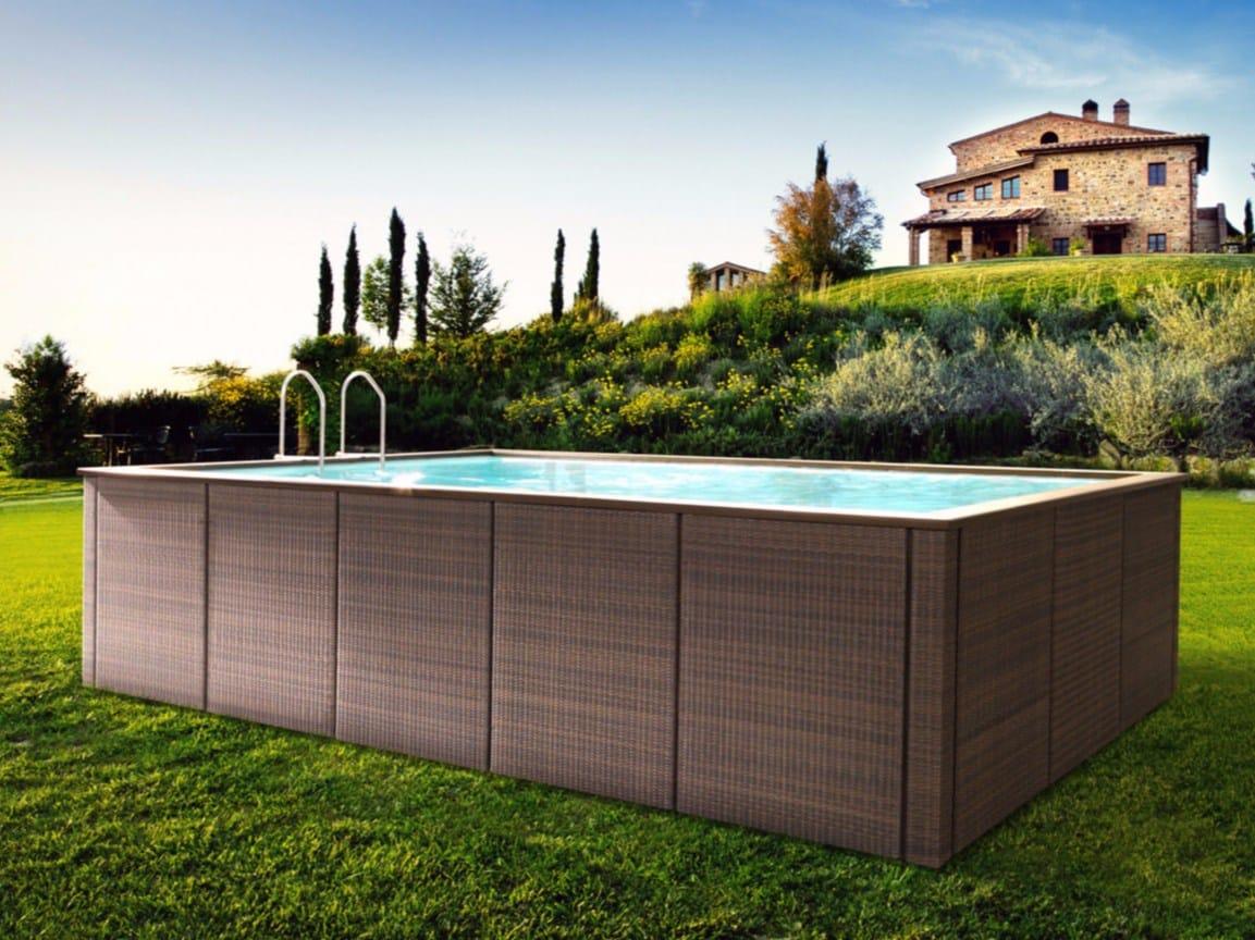 Piscina fuori terra dolcevita by piscine laghetto - Piscine da esterno fuori terra ...