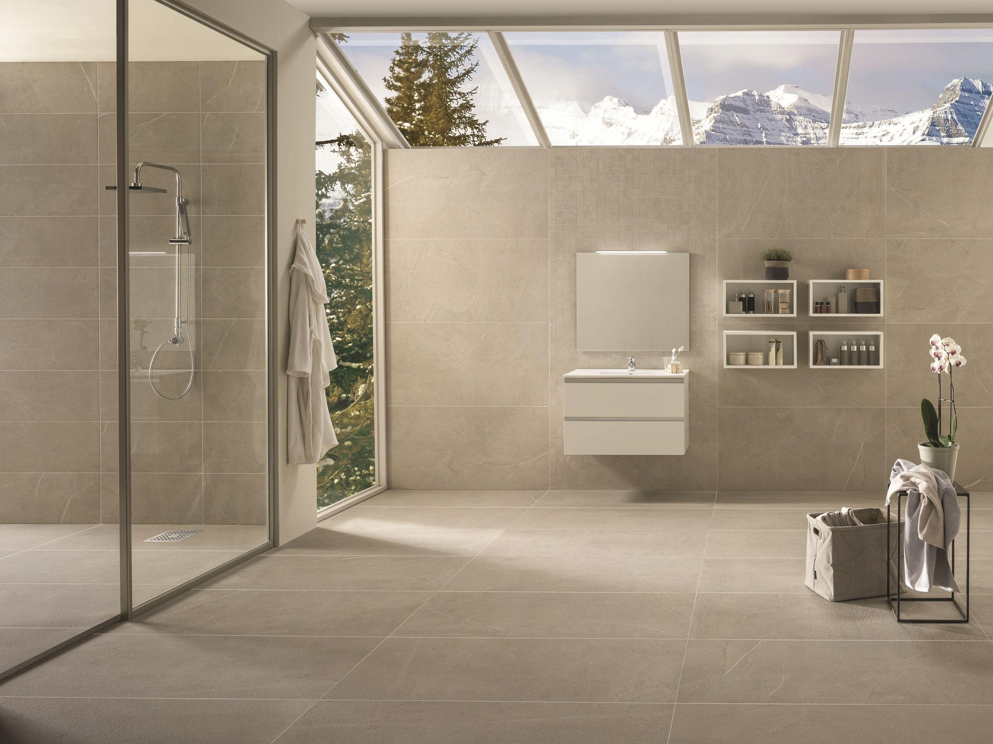 Pavimento rivestimento in gres porcellanato dolomiti for Piastrelle bagno 60x120