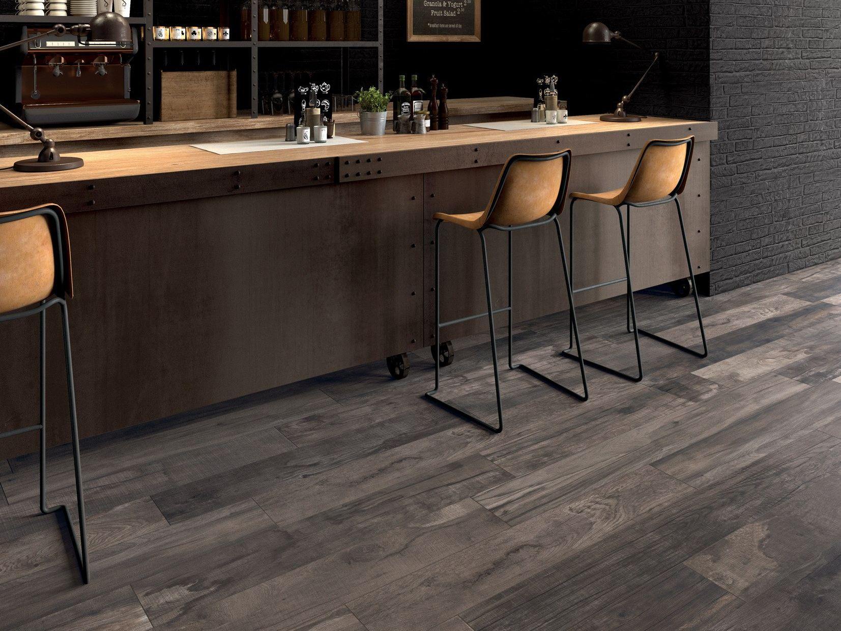 Porcelain stoneware wall floor tiles dolphin by abk for Cuisine carrelage anthracite