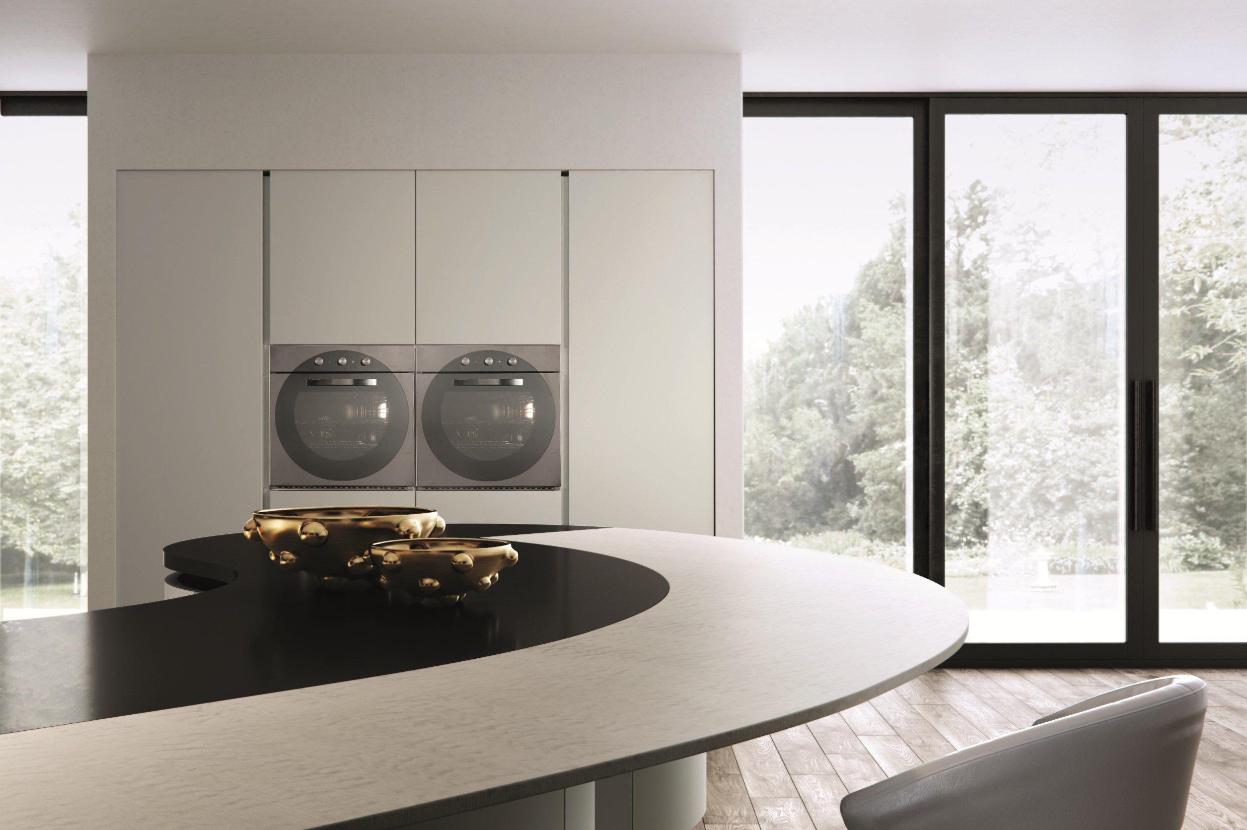 domina küche mit halbinselaster cucine design lorenzo granocchia