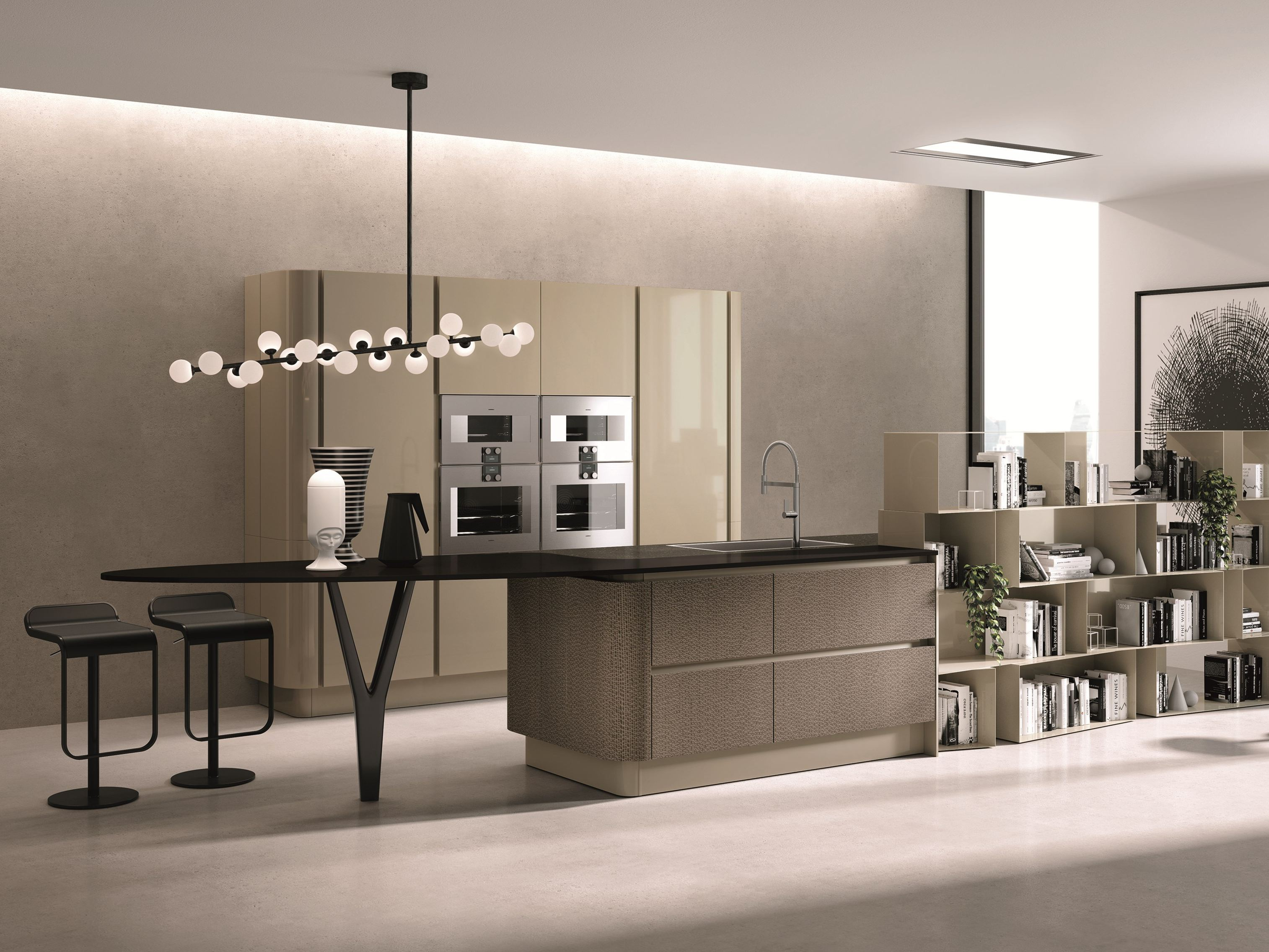 Domina cucina con isola by aster cucine design lorenzo for Isola cucina design