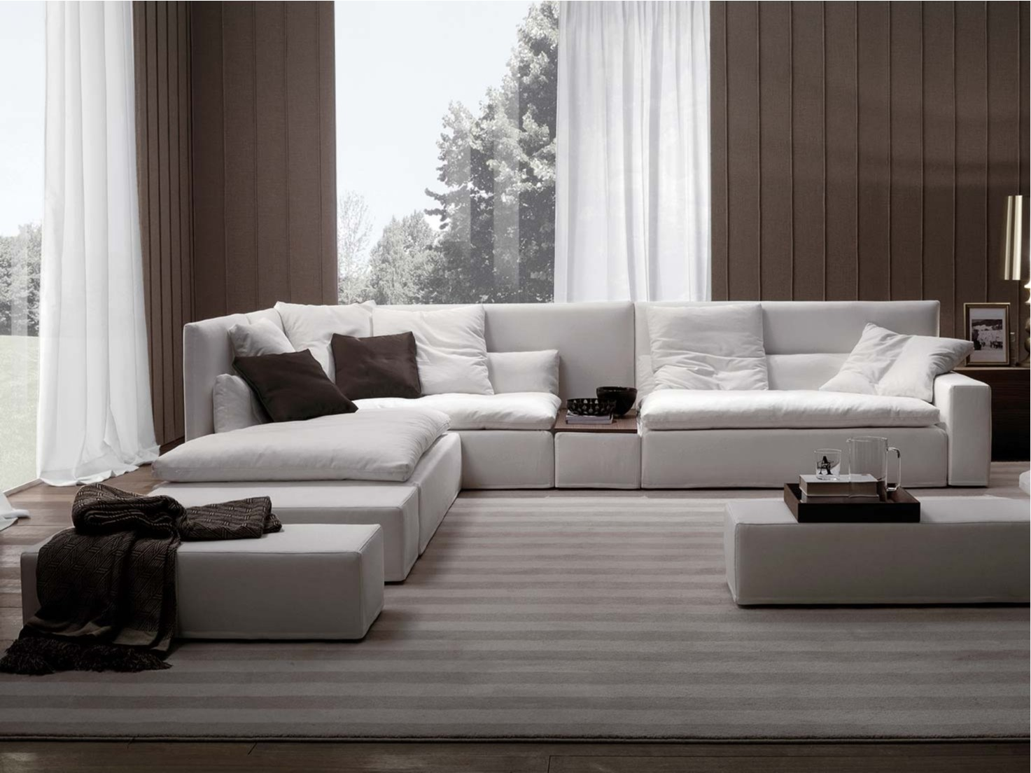 domino divano con schienale alto by frigerio poltrone e divani. Black Bedroom Furniture Sets. Home Design Ideas