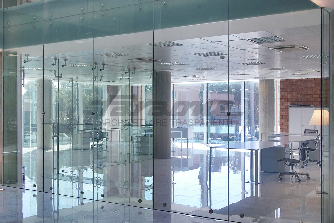 Parete mobile in metallo per ufficio PORTE E DIVISORI by FARAONE