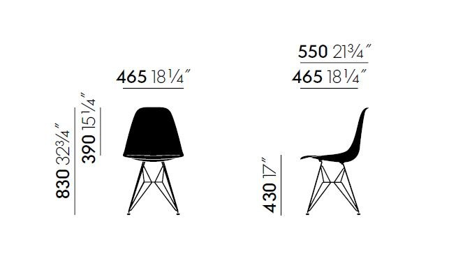 Dsr Stuhl Aus Polypropylen Kollektion Eames Plastic Side