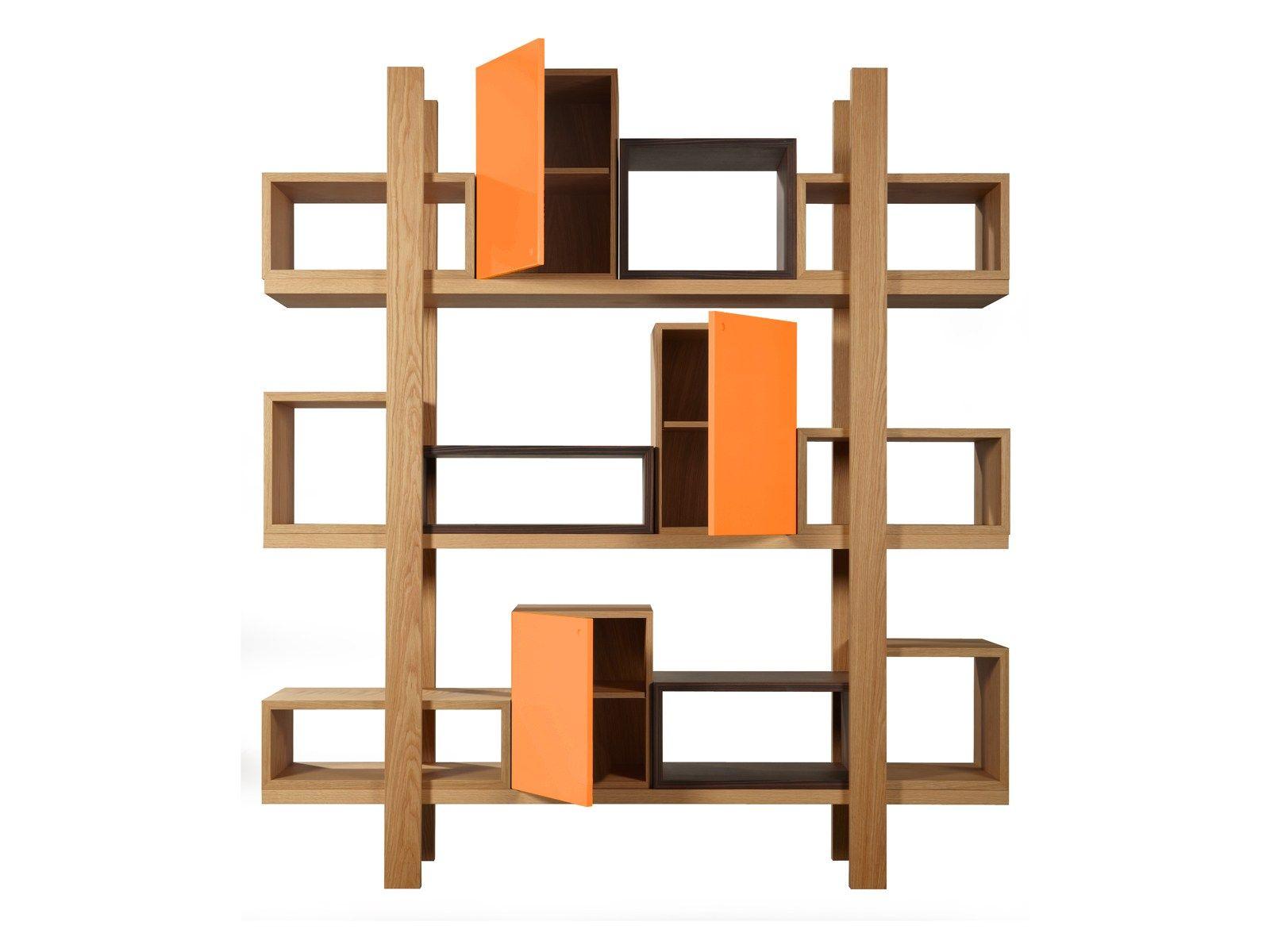 Duras libreria a giorno by azea design victor caetano for Libreria angolare componibile