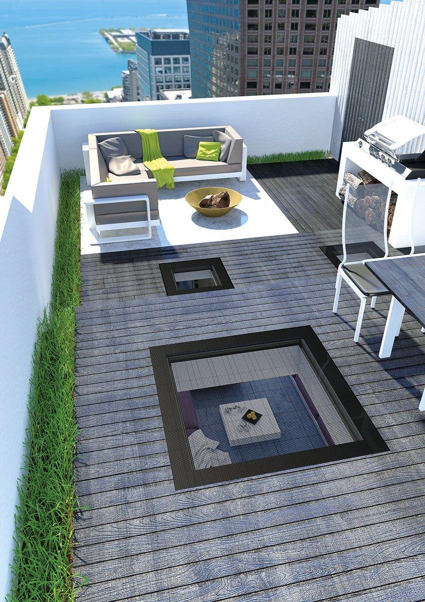 Finestra calpestabile per tetti piatti dxw by fakro design for Fakro listino prezzi