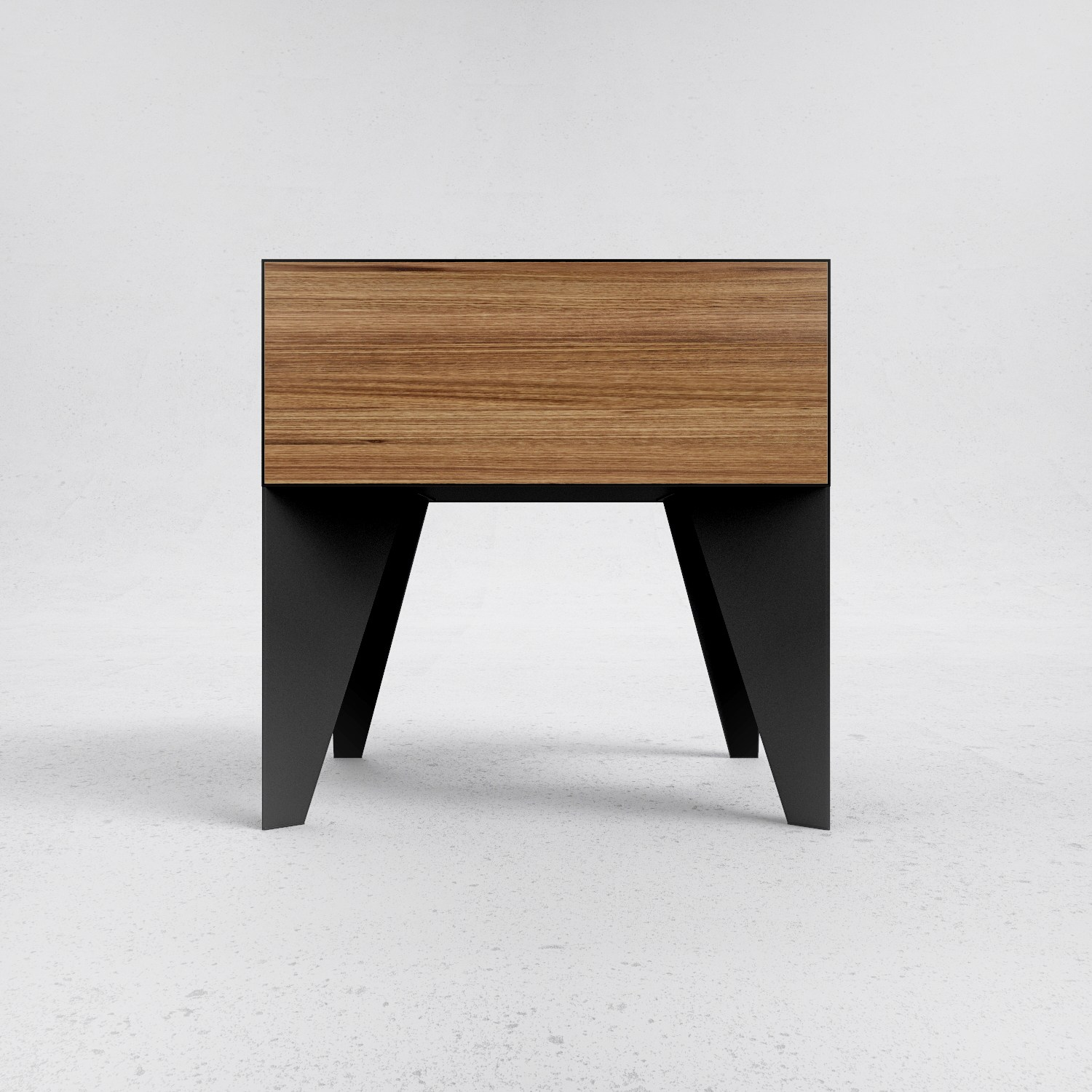 table de nuit en acier et bois e11 by odesd2 design nikita bukoros. Black Bedroom Furniture Sets. Home Design Ideas