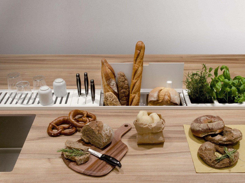 EASYRACK KITCHEN STEP Canale attrezzato per cucina by DOMUSOMNIA