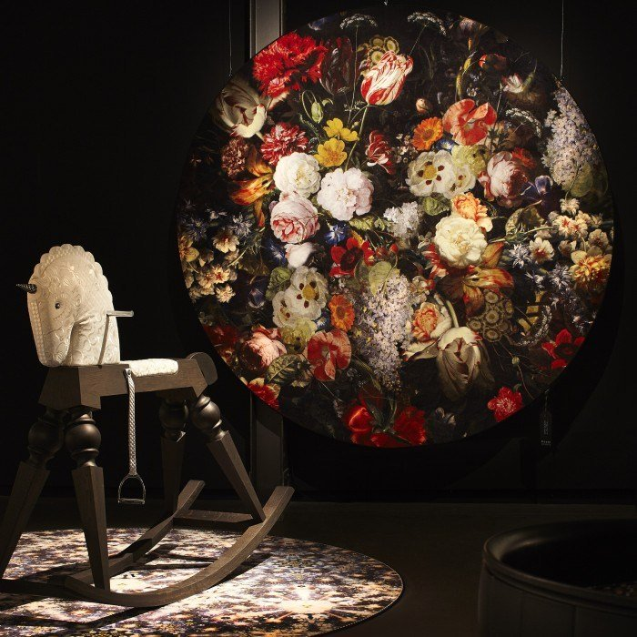 Blumen  runder teppich eden queen by moooi© design marcel wanders