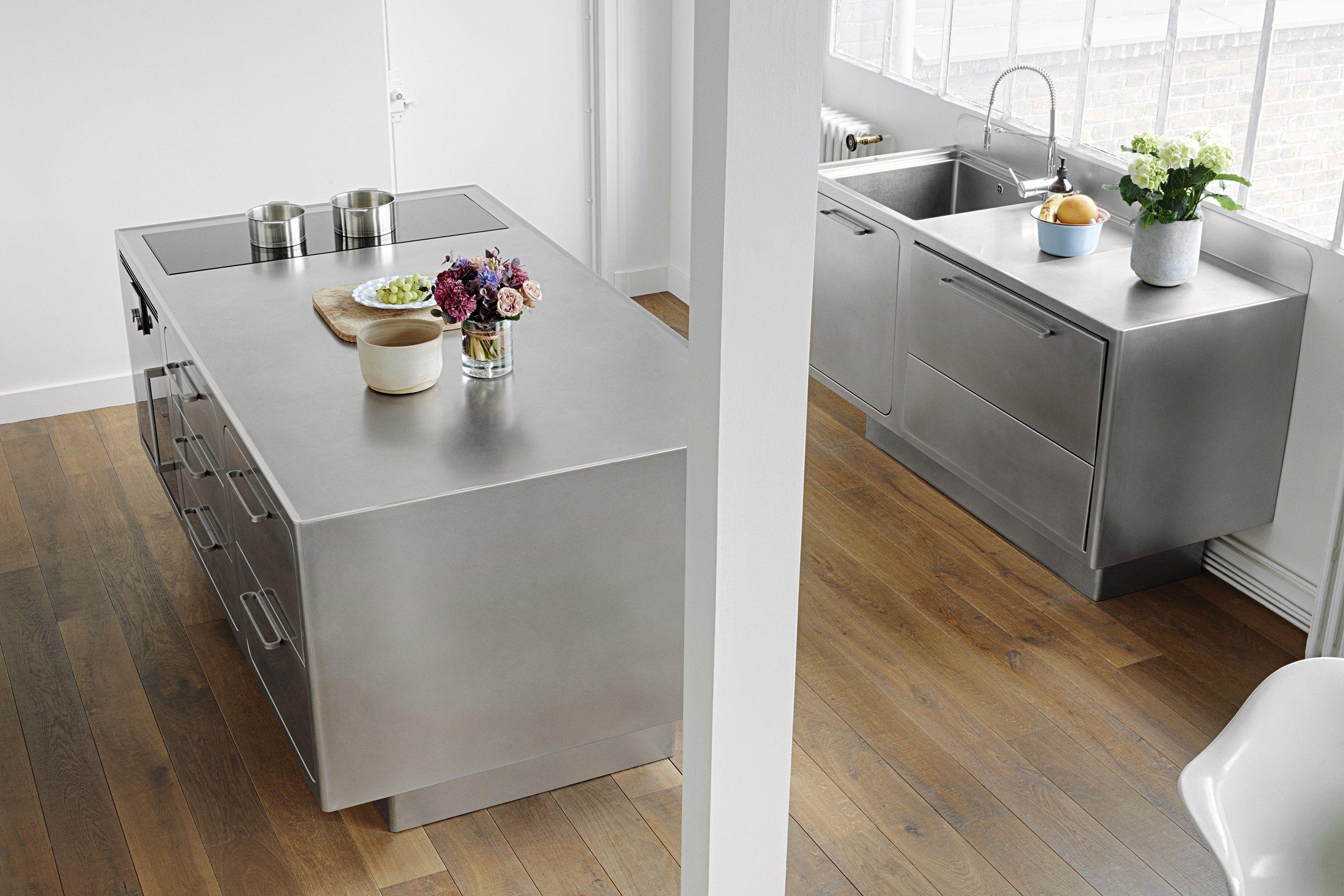 küche aus edelstahl für gewerbe ego by abimis design alberto torsello - Edelstahlplatte Küche