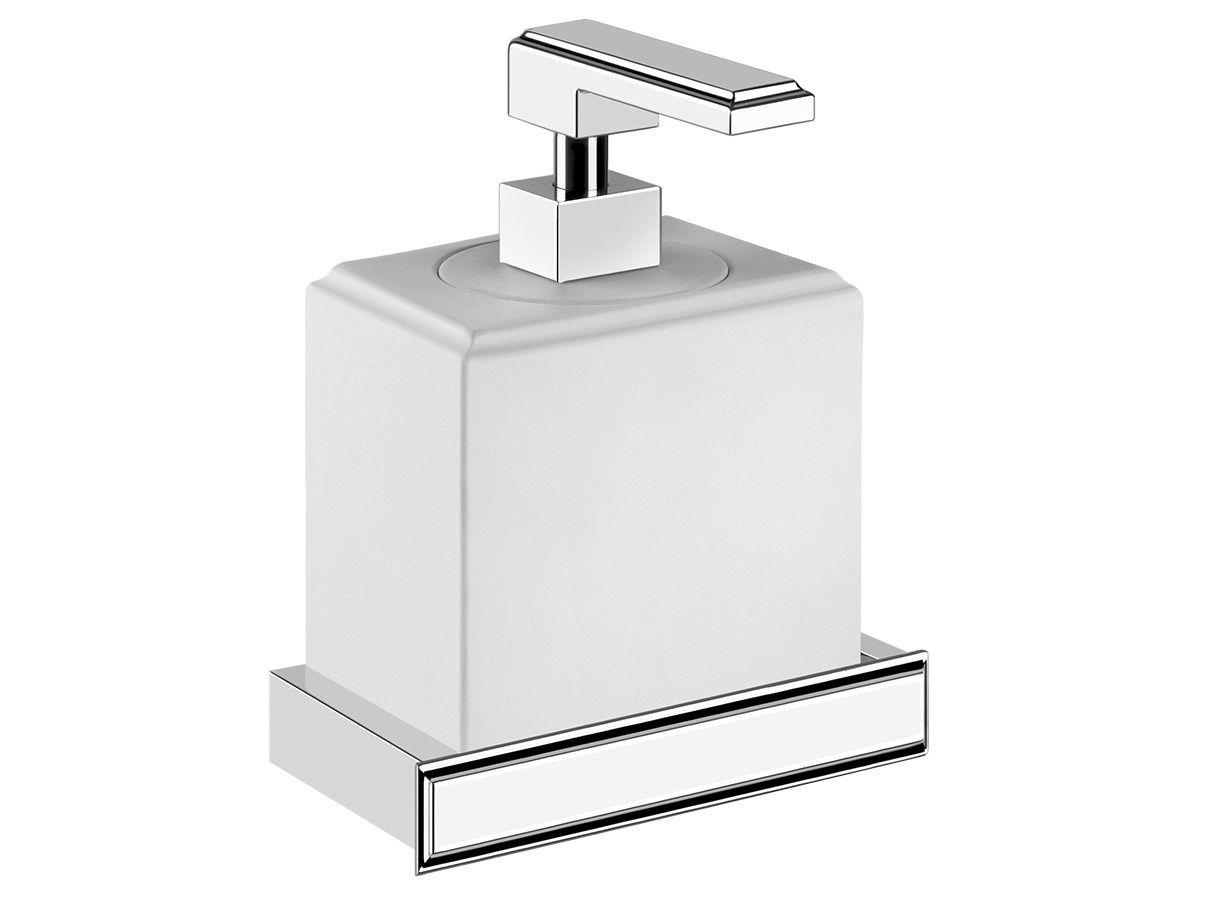 fr produits  eleganza distributeur de savon liquide mural accessories gessi