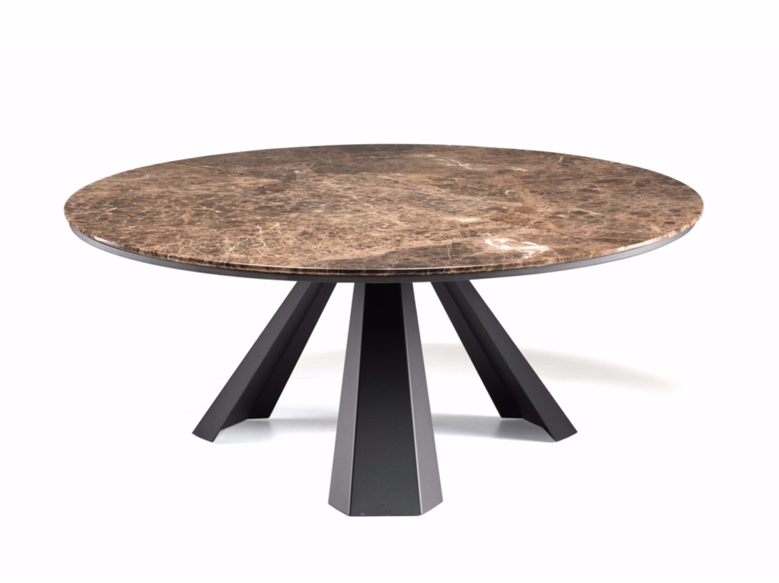 Round table with Lazy Susan ELIOT ROUND By Cattelan Italia ...