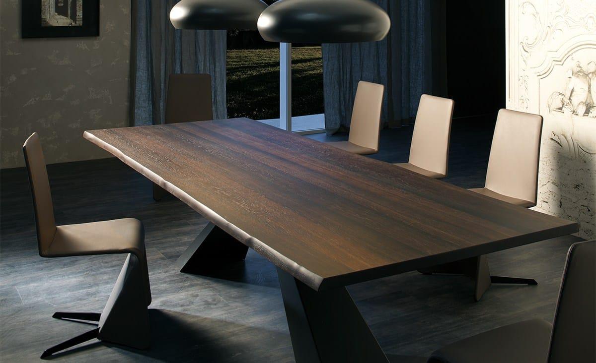 Table rectangulaire en bois eliot wood by cattelan italia for Cattelan italia