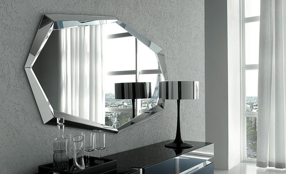 Specchio A Parete Con Cornice Emerald By Cattelan Italia