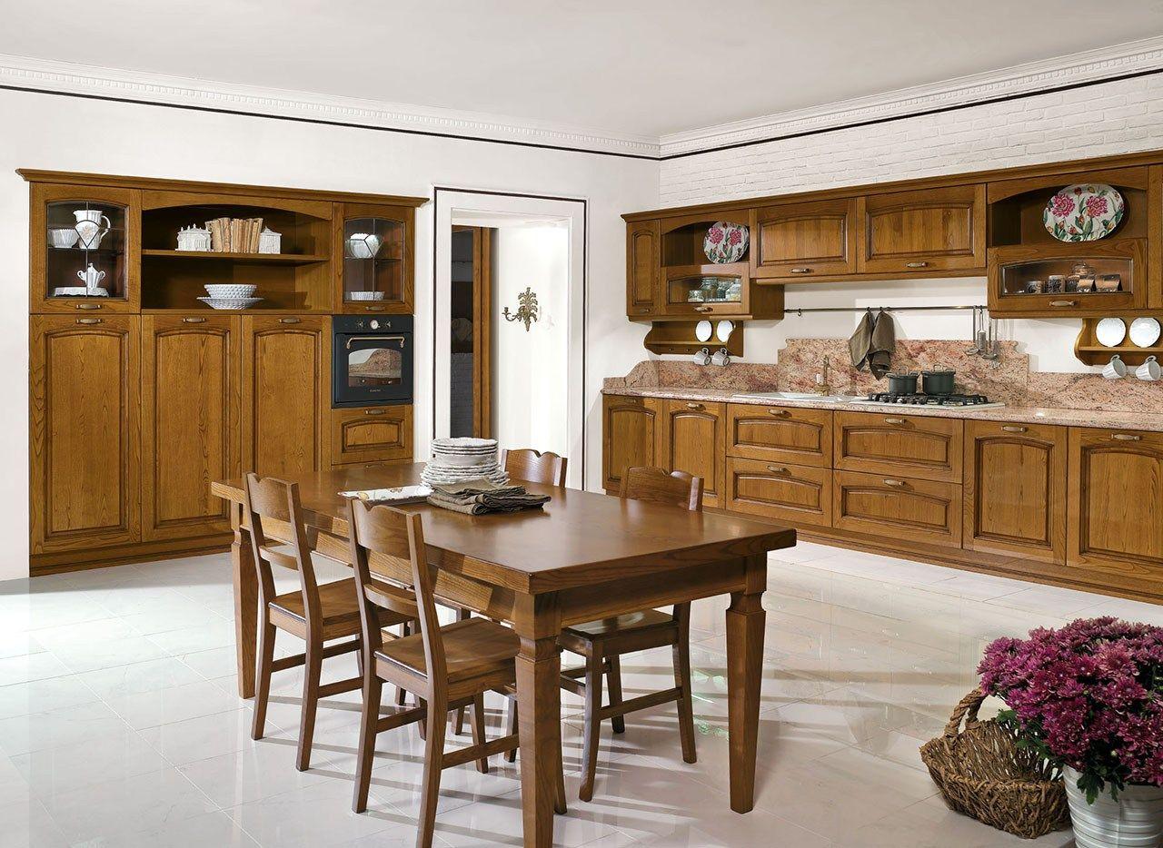 Cucina Componibile In Stile Classico Con Isola Con Maniglie EMMA By  #6C441D 1280 934 Stile Classico Cucina