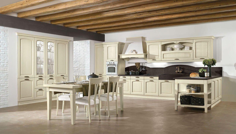 Cucina Componibile In Stile Classico Con Isola Con Maniglie EMMA By  #63492B 1408 800 Stile Classico Cucina