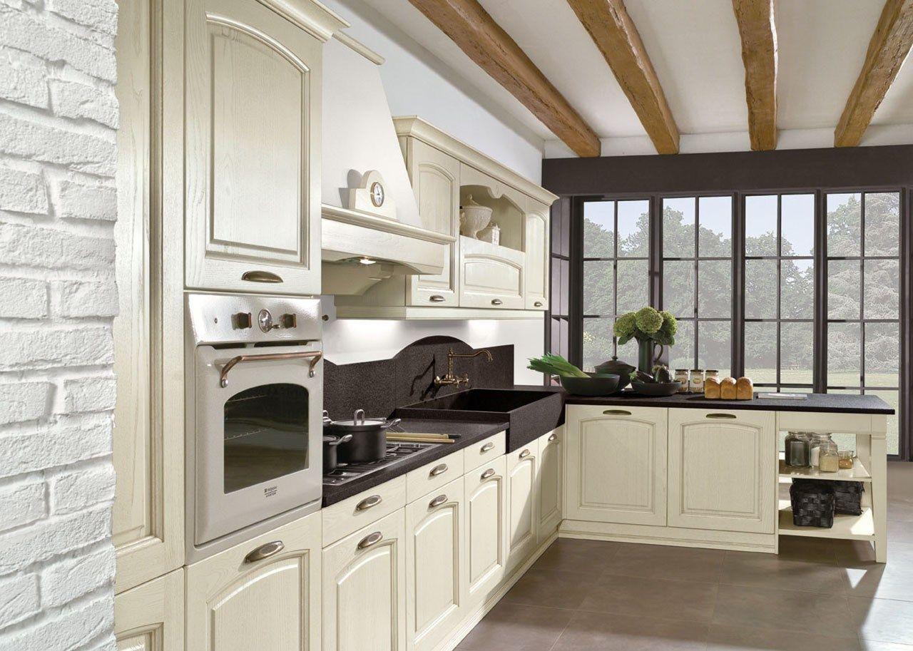 Cucina Componibile In Stile Classico Con Isola Con Maniglie EMMA By  #4F6135 1280 913 Stile Classico Cucina