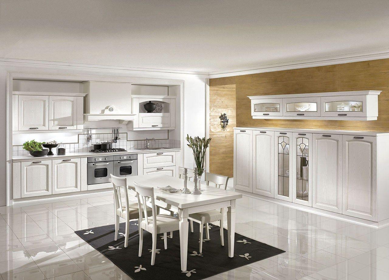 Cucina Componibile In Stile Classico Con Isola Con Maniglie EMMA By  #8E703D 1280 921 Stile Classico Cucina