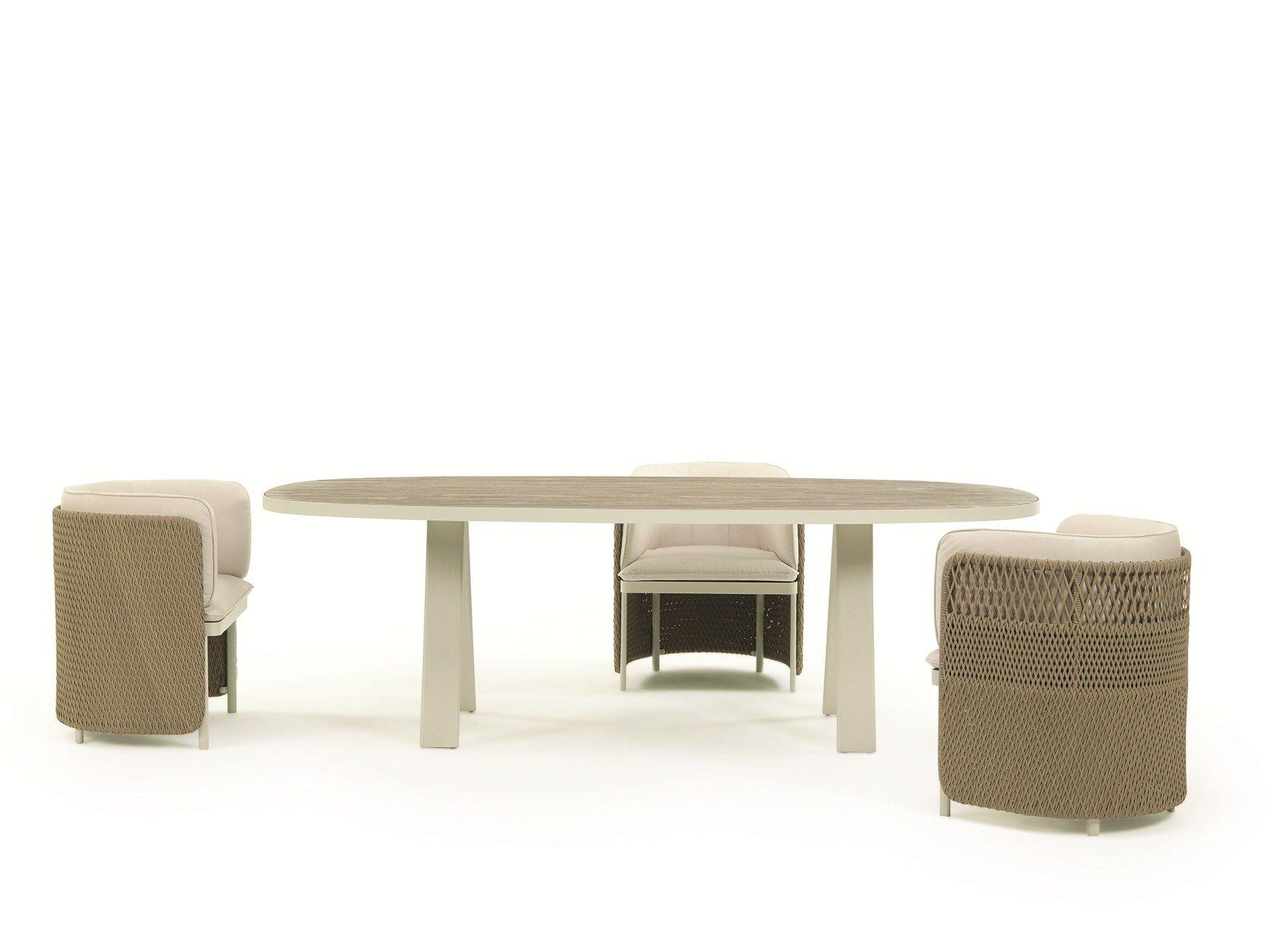 Lampade Da Tavolo Esedra : Esedra tavolo da giardino by ethimo design luca nichetto