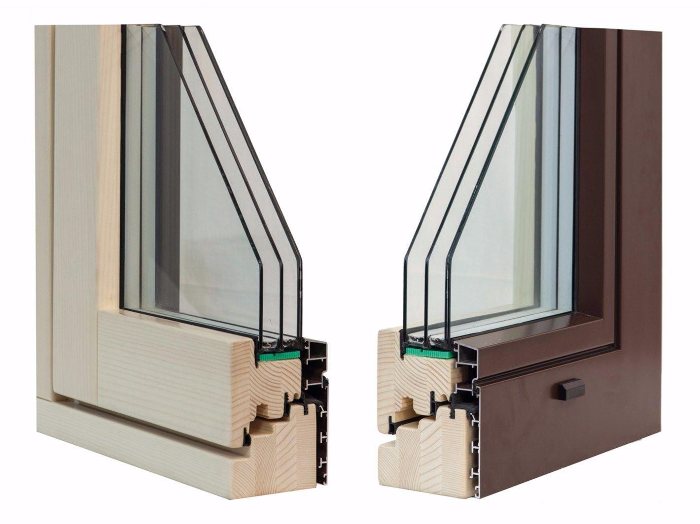 Finestra in alluminio e legno eternity complanare by alpilegno for Finestra in alluminio