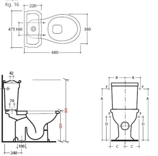 Ethos 8426 inodoro monobloque by galassia dise o antonio for Inodoro para discapacitados medidas