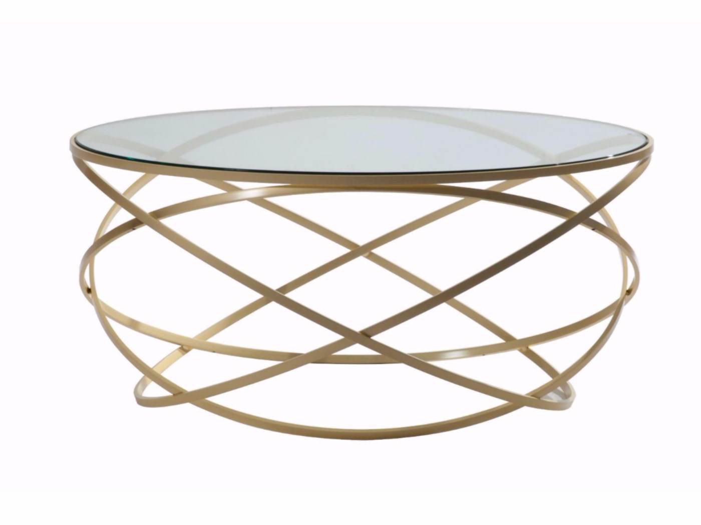 table basse ronde en acier et verre evol by roche bobois. Black Bedroom Furniture Sets. Home Design Ideas