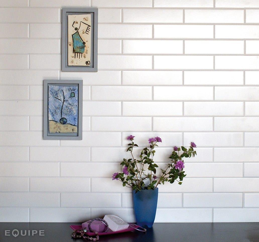 Evolution wall tiles by equipe ceramicas - Azulejo 15x15 blanco ...