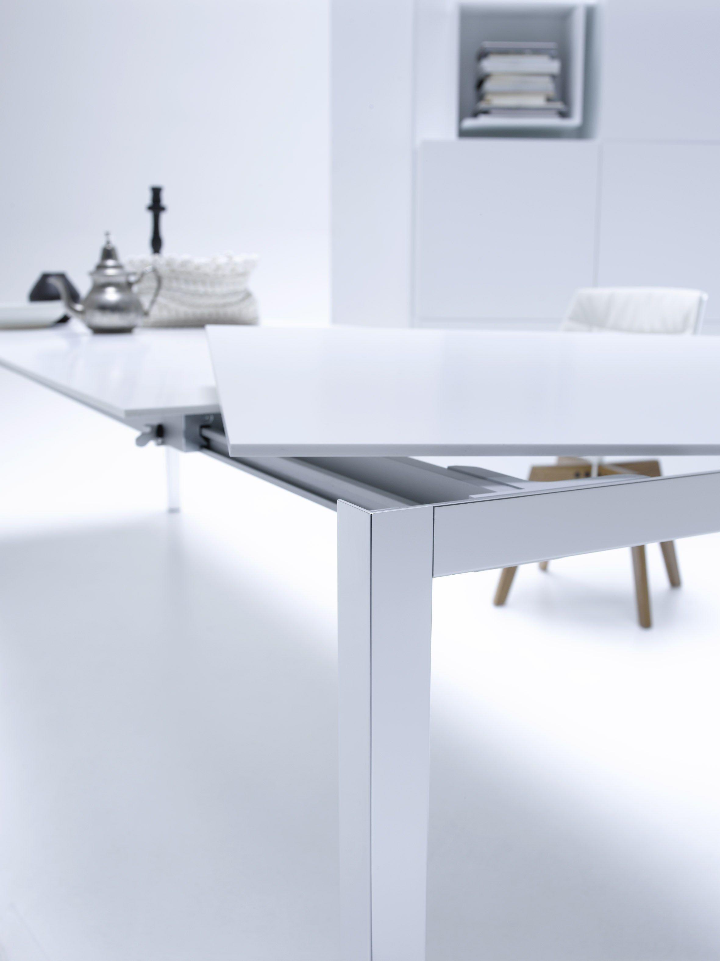 ausziehbarer rechteckiger tisch ext table by mdf italia design bruno fattorini. Black Bedroom Furniture Sets. Home Design Ideas