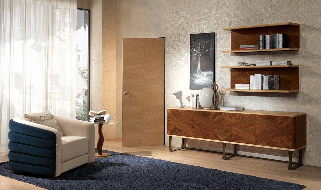 Pensile orizzontale in legno in stile moderno elemento - Carpanelli mobili ...