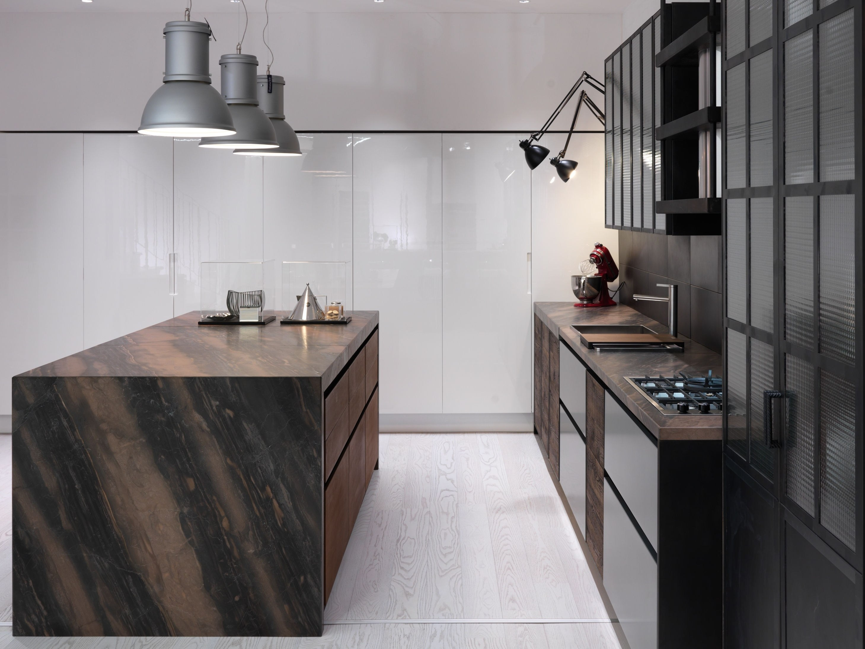 Factory kitchen with island factory collection by aster for Cucine designer